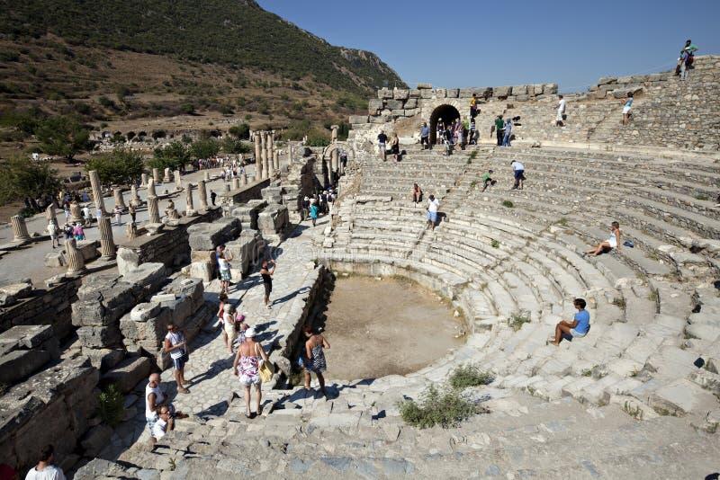 Odeion, Ephesus, Izmir, Turkije royalty-vrije stock foto