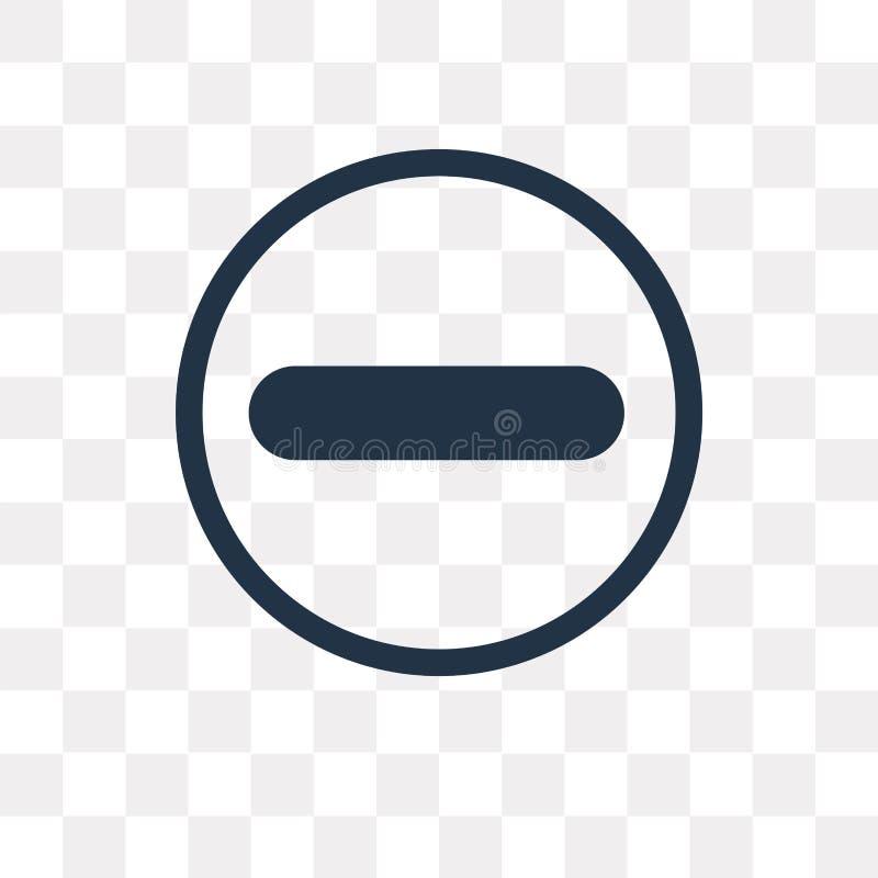 Odejmowanie wektorowa ikona odizolowywająca na przejrzystym tle, Subt ilustracji