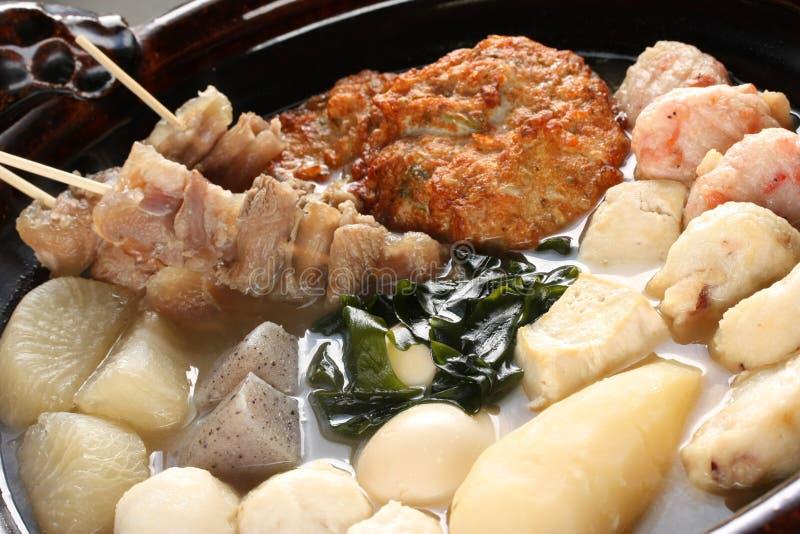 Oden, alimento japonés fotografía de archivo