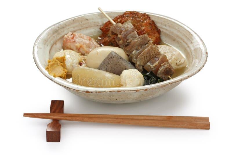 Oden, Japans voedsel stock afbeeldingen
