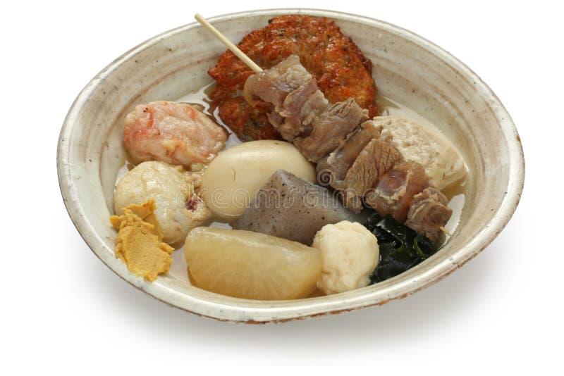 Oden, nourriture japonaise photographie stock libre de droits