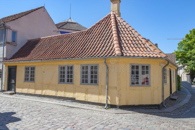 Odense Denmark HC Andersen Museum. Famous fairytale writer royalty free stock image