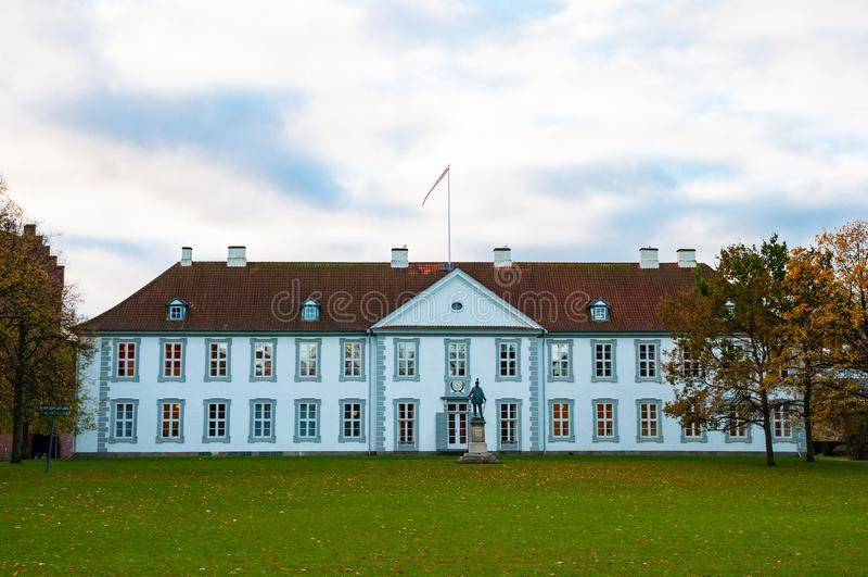 Odense slott i Danmark royaltyfri fotografi