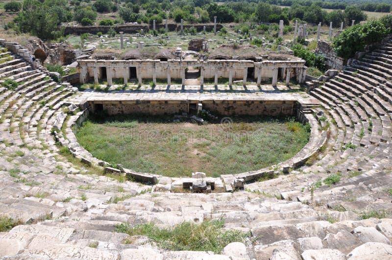 Odeon στην αρχαία πόλη Aphrodisias, Pamukkale στοκ φωτογραφία