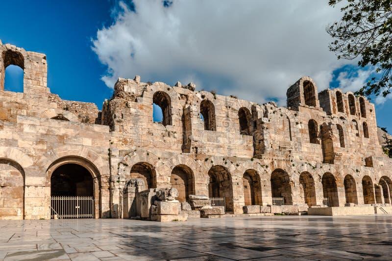 Odeon Аттика Herodes в Афинах, Греции стоковое изображение rf