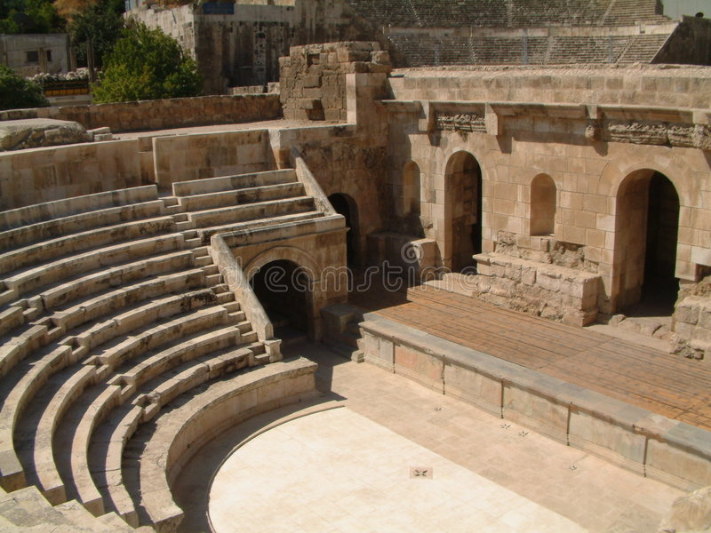 Odeon, Amman royalty free stock photography