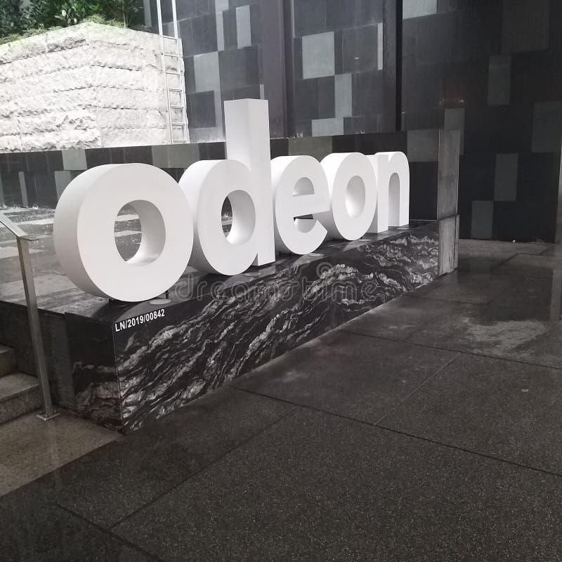 Odeon byggnadsingång fotografering för bildbyråer