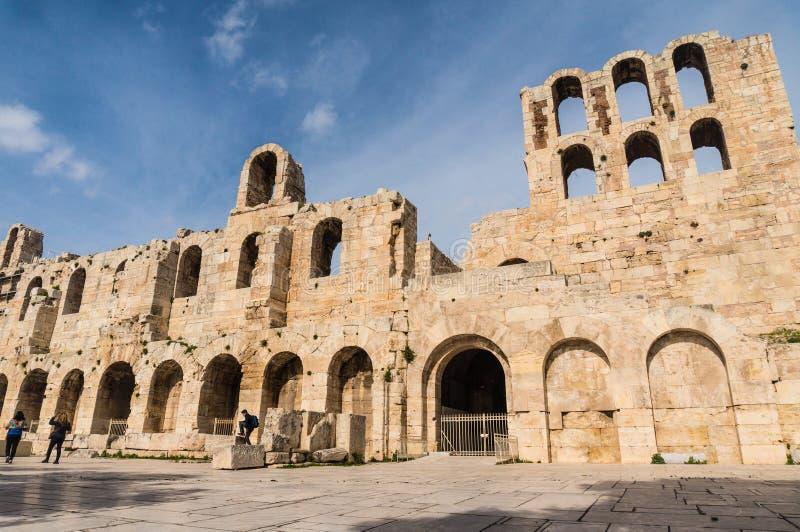 Odeon de herodes de la Atica foto de archivo