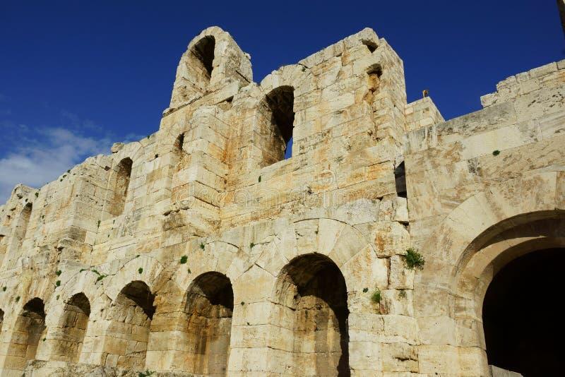 Odeon do Atticus de Herodes imagem de stock