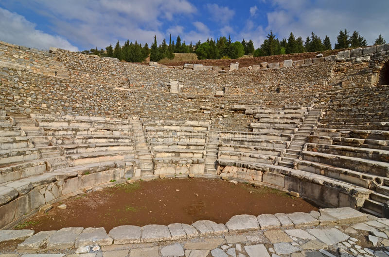 Odeon a Ephesus fotografia stock libera da diritti