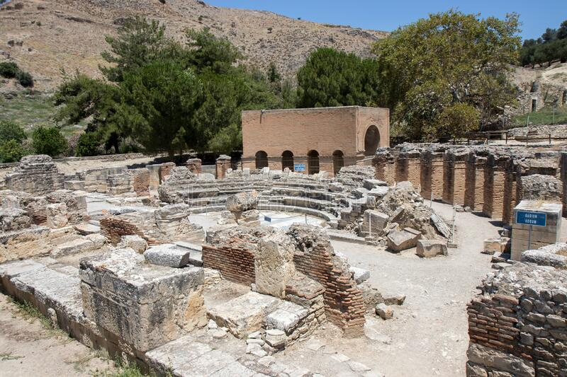 Odeon in Gortyn on Crete royalty free stock photography