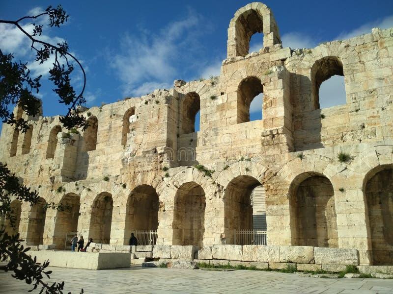 Odeon von Herodes Atticus stockfotos
