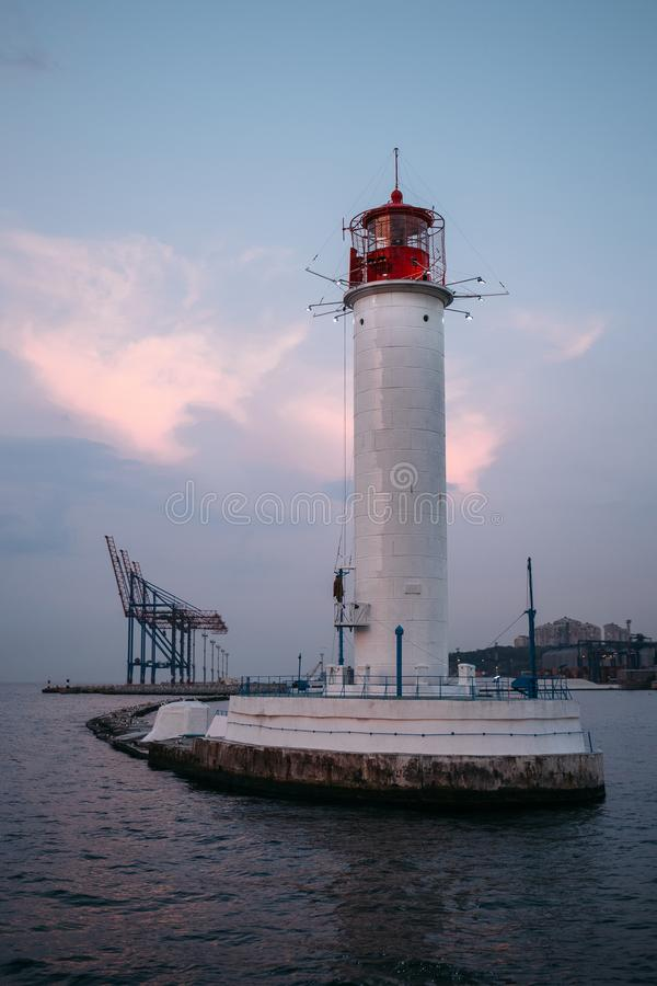 Odesa Lighthouse stock images