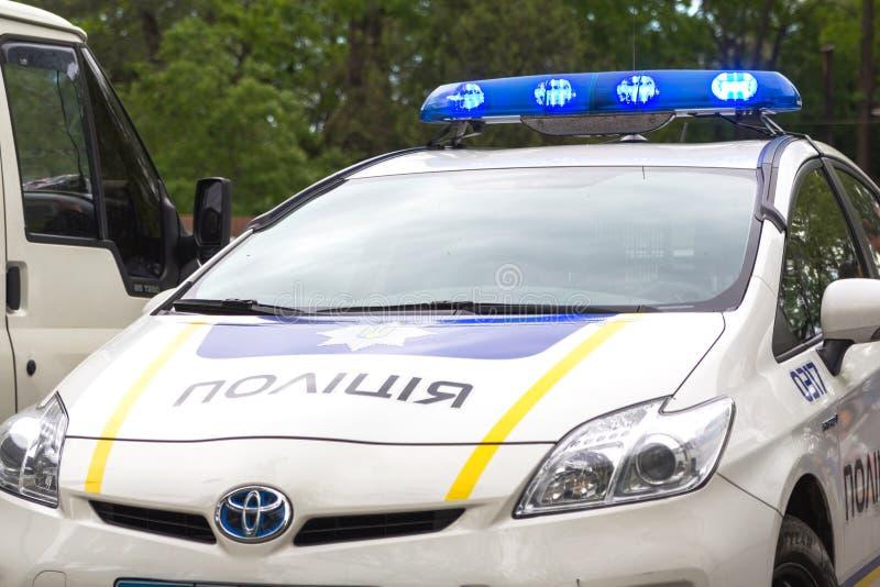 Odesa Ukraina, Maj, - 15, 2016: Kniaź milicyjny radiowóz w parku obraz royalty free