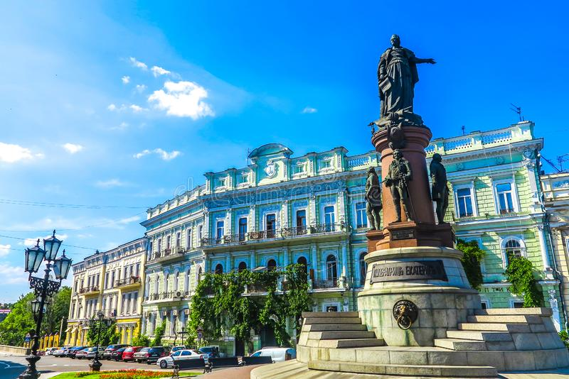 Odessa Catherine Monument royalty free stock images