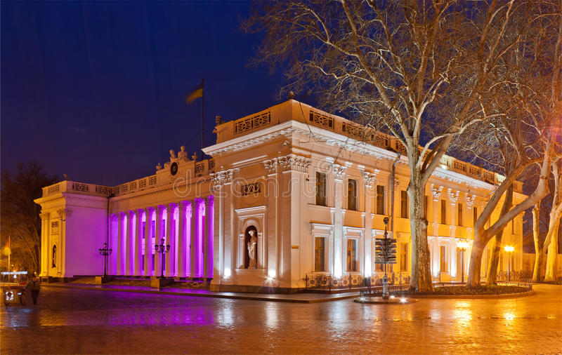 Download Odessa City Hall at night stock image. Image of neoclassical - 24326447