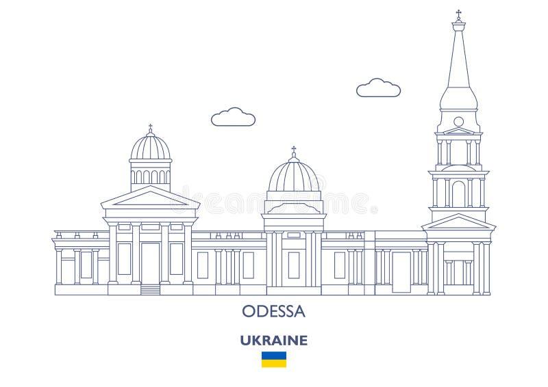 Odessa City Skyline, Ukraine stock abbildung