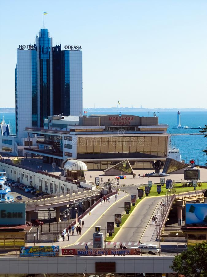 Odessa Marine Station foto de stock
