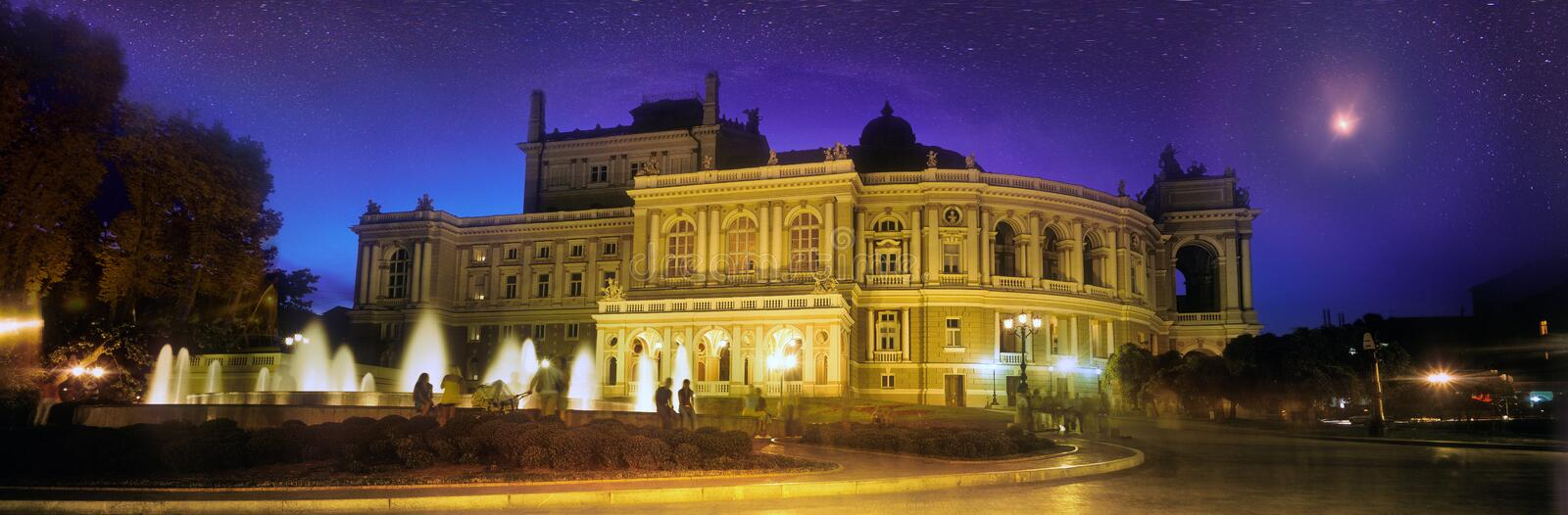 Odessa National Academic Theater de Opera e do bailado imagem de stock