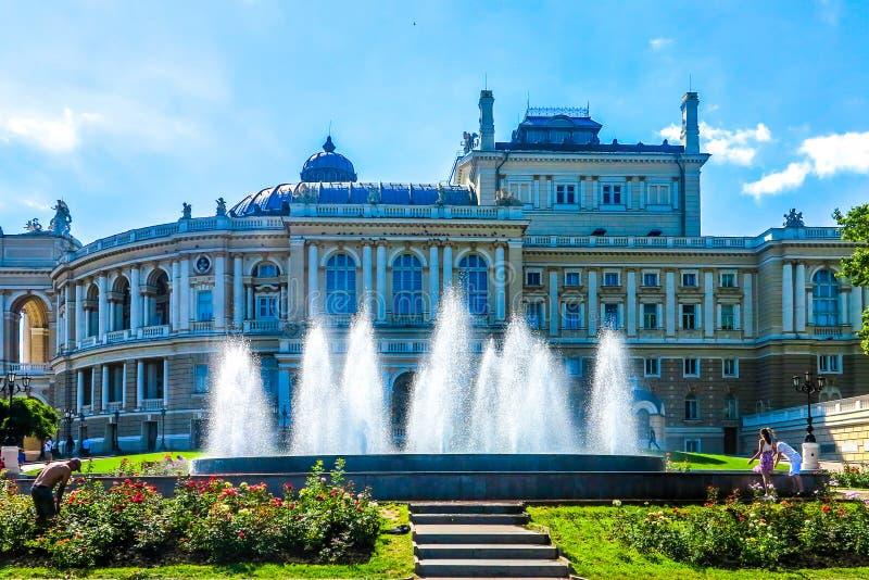 Odessa National Theater 02 royalty free stock photos