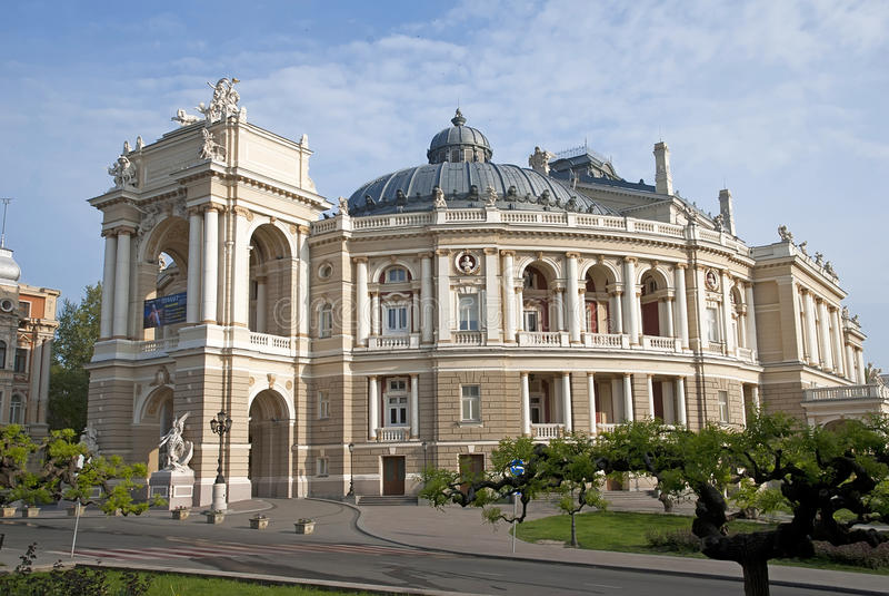 Download Odessa opera arkivfoto. Bild av landmark, modernt, bifokal - 19795912