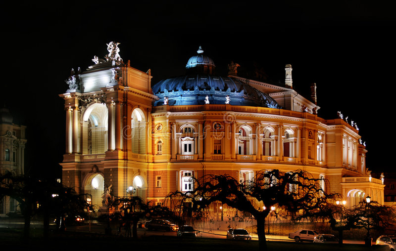 Odessa opera and ballet theatre stock image