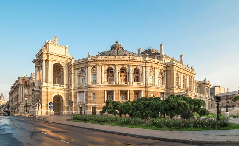 Odessa Opera Theatre Ukraine stock foto's