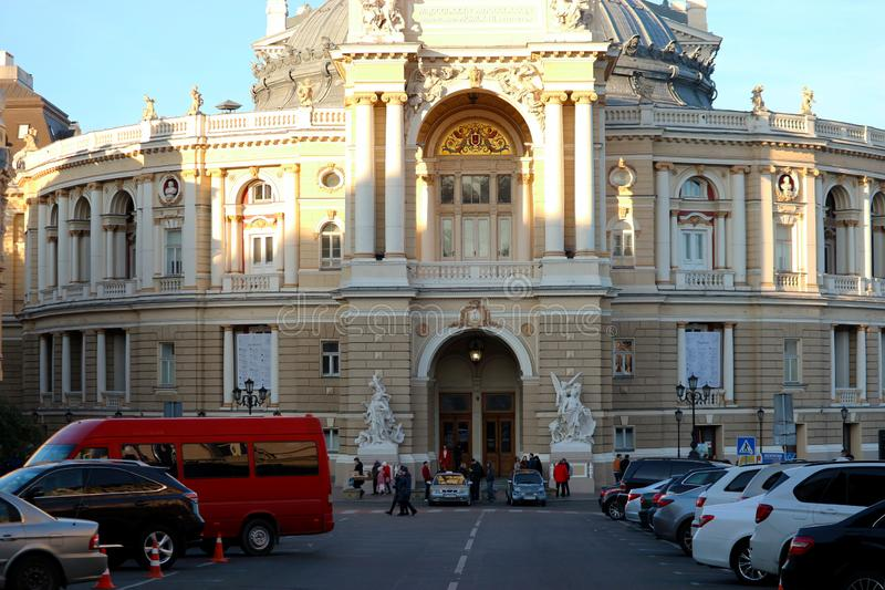 Odessa-Operen-und Ballett-Theater stockbilder