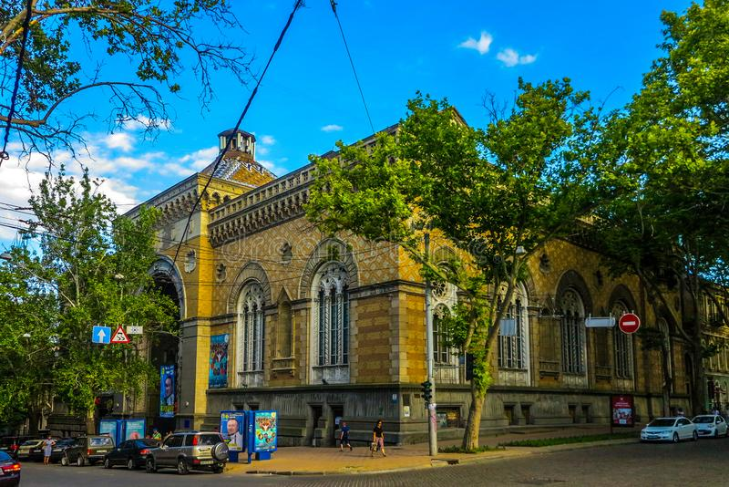 Odessa Philharmonic Theatre stock images