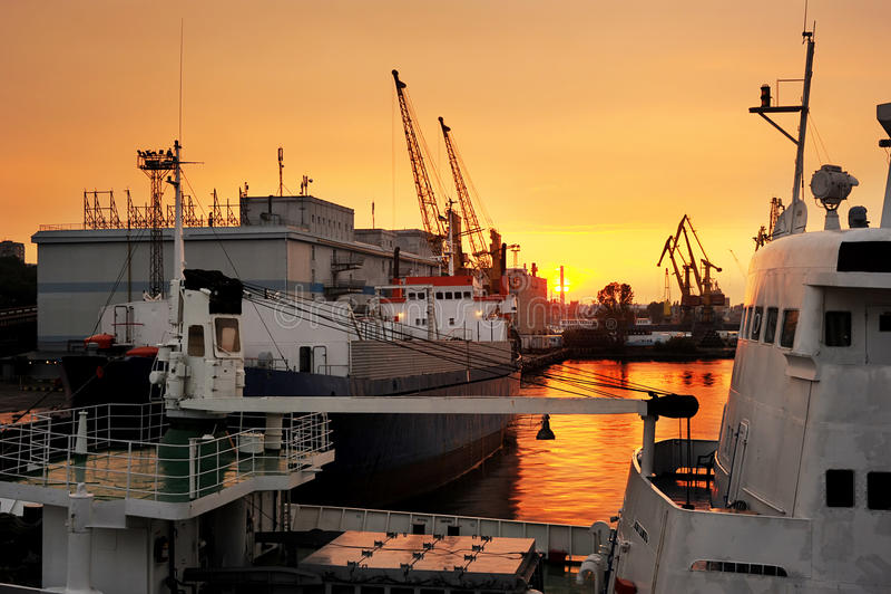 odessa port royaltyfri fotografi