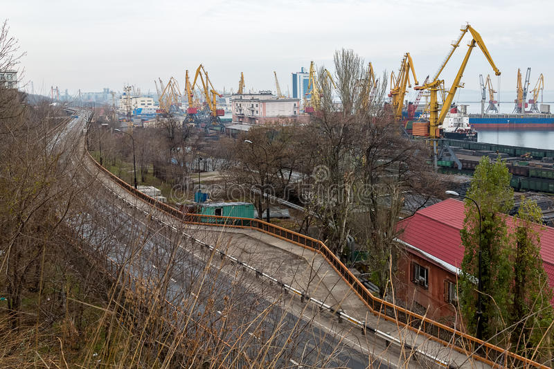 Odessa port Ukraina obraz stock