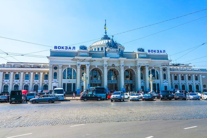 Odessa Railway Station royalty-vrije stock foto