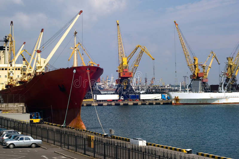odessa seaport royaltyfri bild