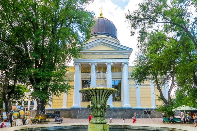 Odessa Spaso Preobrazhensky Cathedral 01 arkivfoto