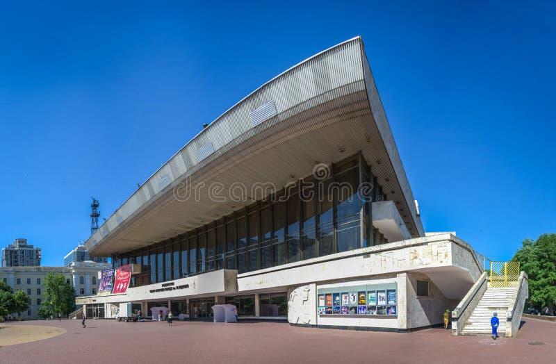 Odessa Theater av musikalisk komedi royaltyfri foto