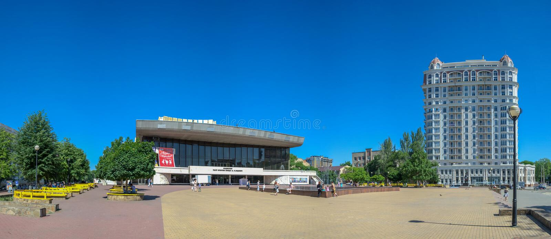 Odessa Theater av musikalisk komedi royaltyfri bild