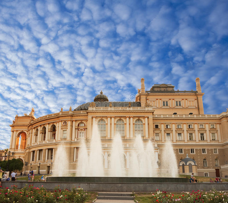 Odessa Theatre of Opera and Ballet royalty free stock photos