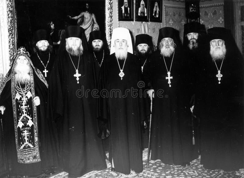 ODESSA, UCRANIA, circa 1950 - fotos del vintage de altos sacerdotes de foto de archivo libre de regalías