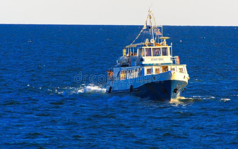 Odessa, Ukraine - 8. August 2018 Schiff für Wege in der hohen See herein stockbild