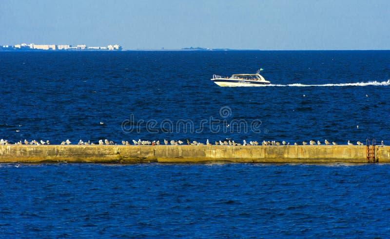 Odessa, Ukraine - 8. August 2018 Schiff für Wege in der hohen See herein stockfoto