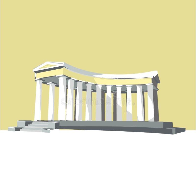 Odessa, Ukraine colonnade popular world sightseeings,memorial building. isolated vector illustration. Odessa, Ukraine - colonnade popular world sightseeings stock illustration