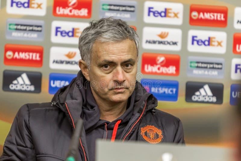Odessa, Ukraine - 7. Dezember 2016: Cheftrainer, Manchester vereinigen stockfoto