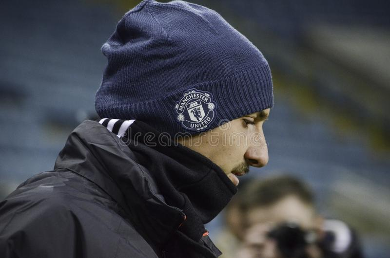 ODESSA, UKRAINE - 8. Dezember 2016: Zlatan Ibrahimovic während t lizenzfreies stockbild