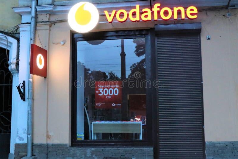 Signage Of A Vodafone Store  International Company Of Sim