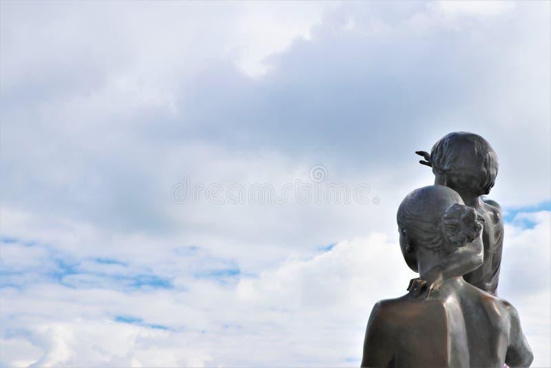 Odessa, Ukraine Monument zur Seemann ` s Frau stockfotos