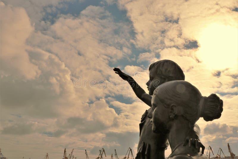Odessa, Ukraine Monument zur Seemann ` s Frau lizenzfreies stockbild
