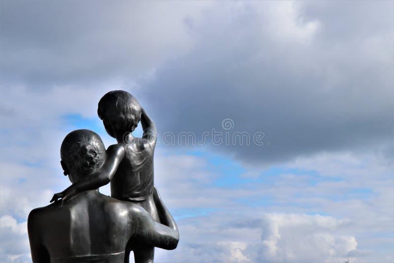 Odessa, Ukraine Monument zur Seemann ` s Frau lizenzfreie stockfotos