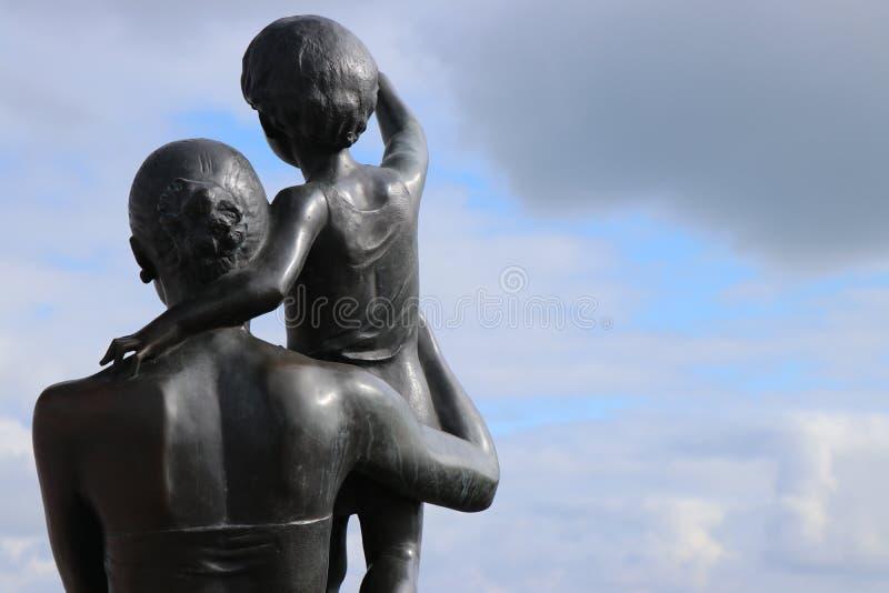 Odessa, Ukraine Monument zur Seemann ` s Frau stockbilder