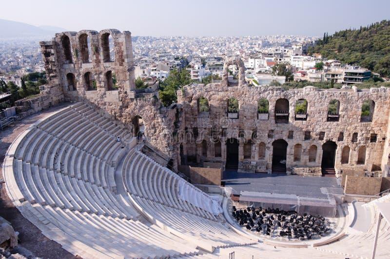 Odeum antigo do Acropolis imagens de stock royalty free