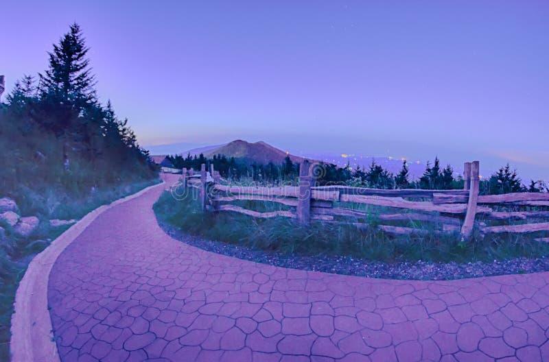 Odgórna góra Mitchell po zmierzchu obraz stock